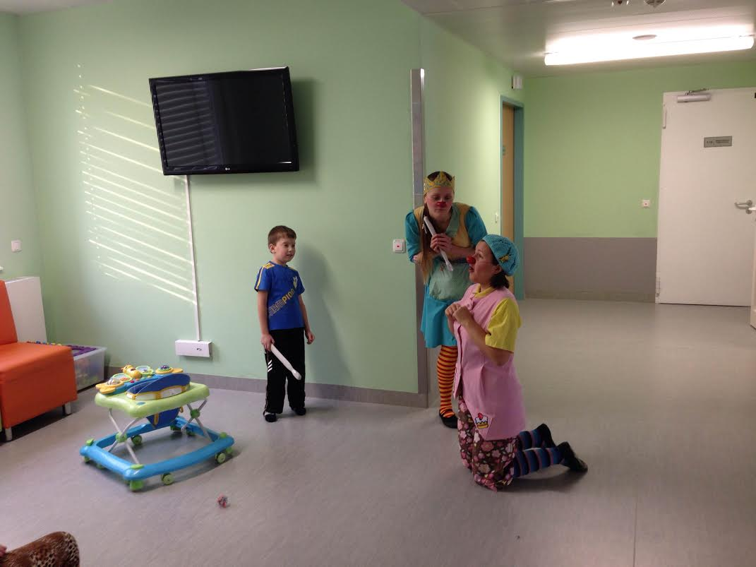 Hospital clowns in the children's neurosurgical division